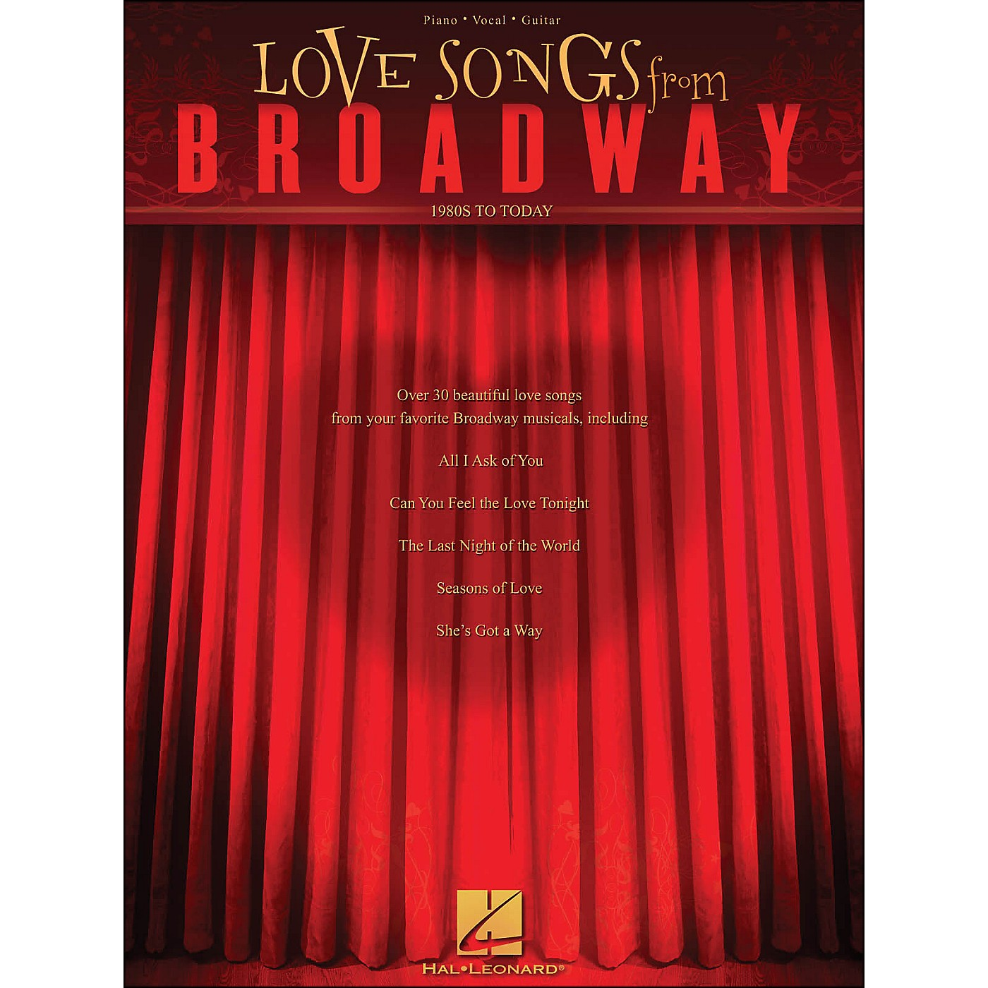 Hal Leonard Love Songs From Broadway - 1980s To Today arranged for piano, vocal, and guitar (P/V/G) thumbnail