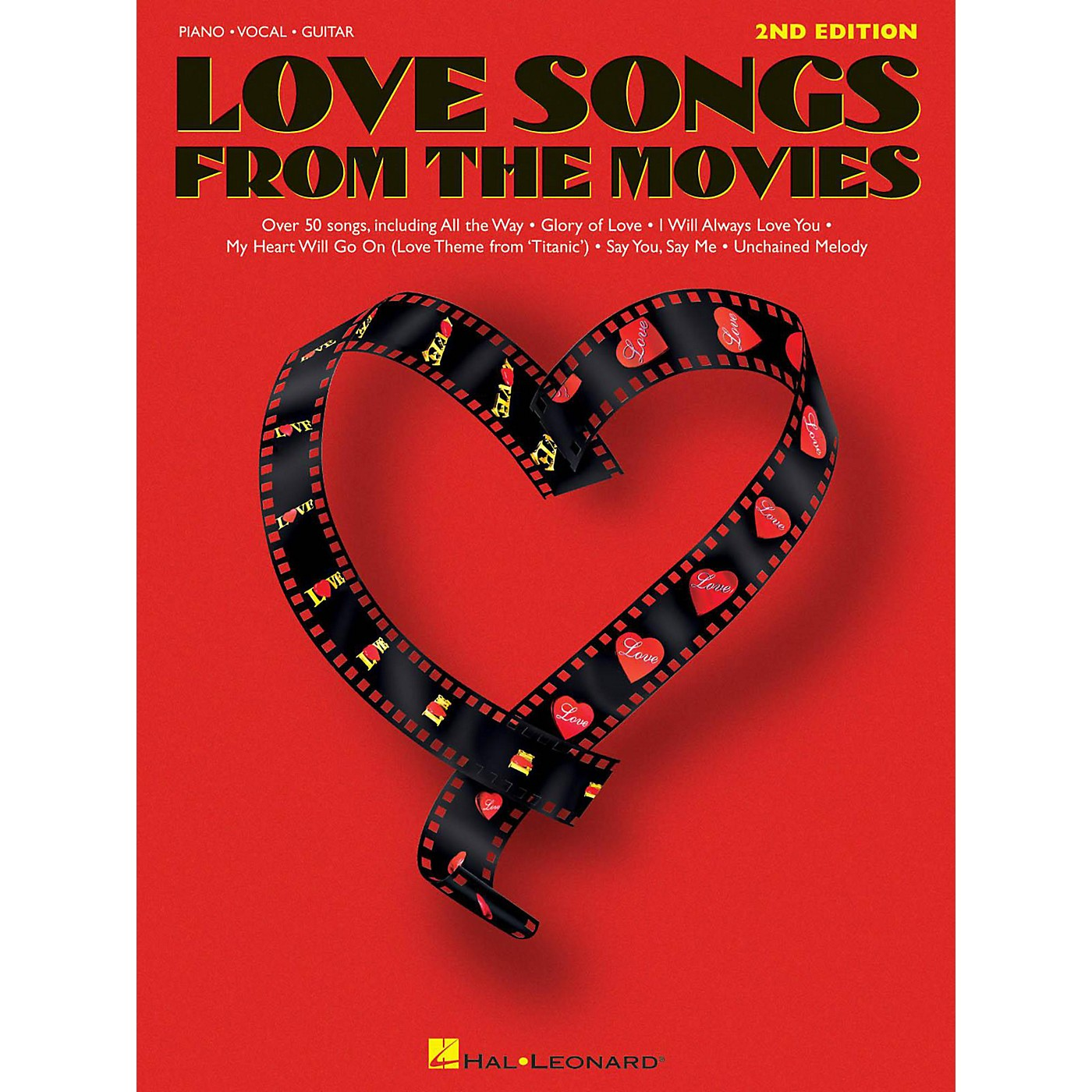 Hal Leonard Love Songs From The Movies Piano, Vocal, Guitar Songbook thumbnail