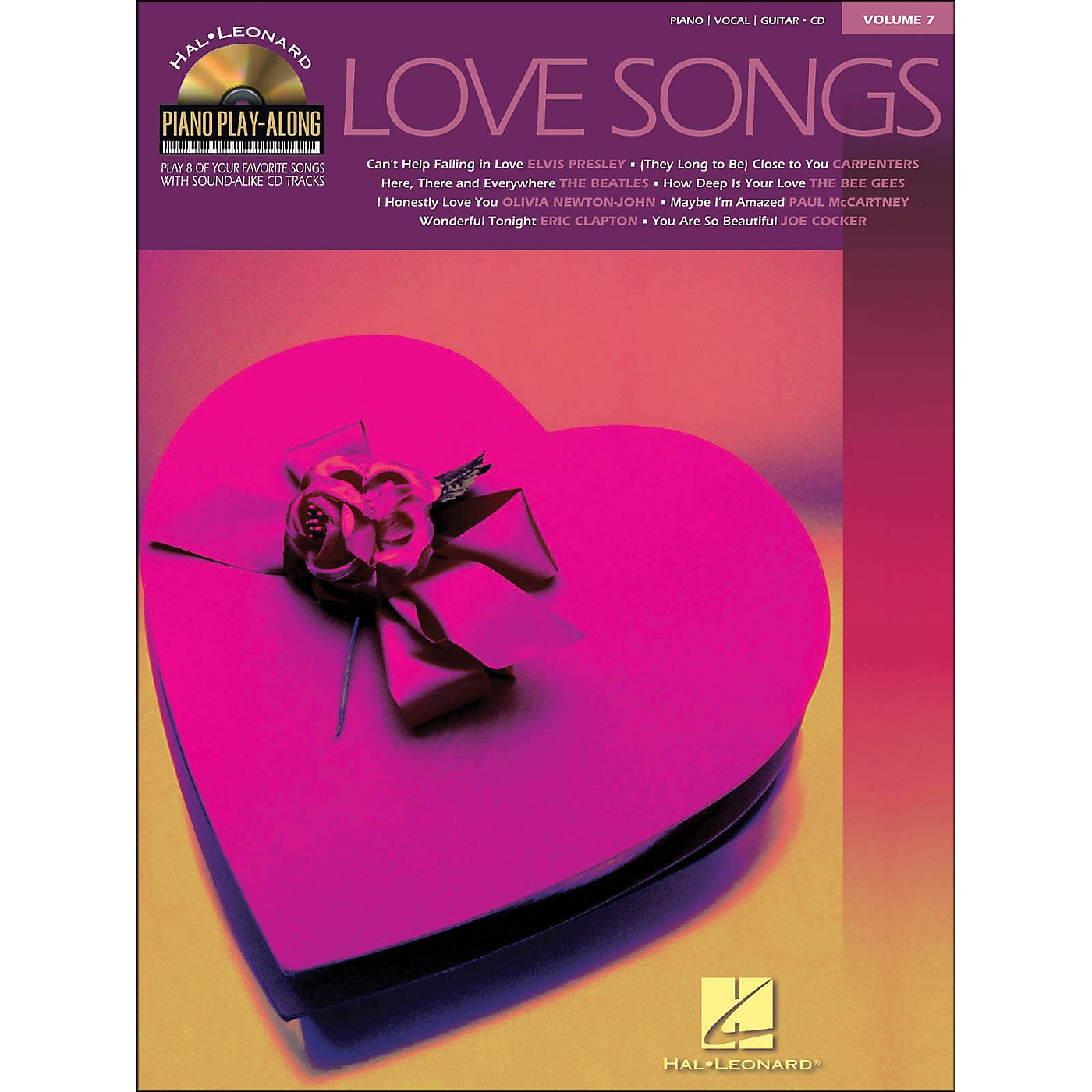 Hal Leonard Love Songs Piano Play-Along Volume 7 Book/CD arranged for piano, vocal, and guitar (P/V/G) thumbnail