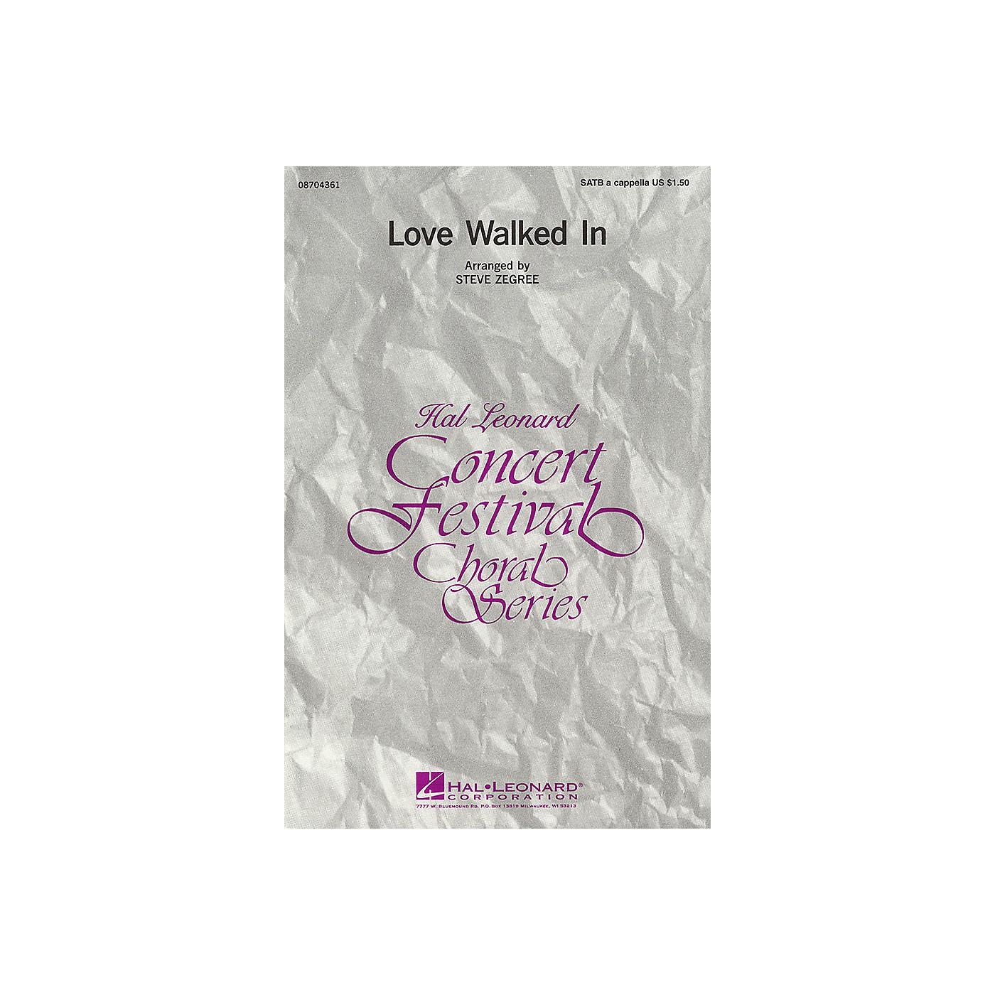Hal Leonard Love Walked In SATB arranged by Steve Zegree thumbnail