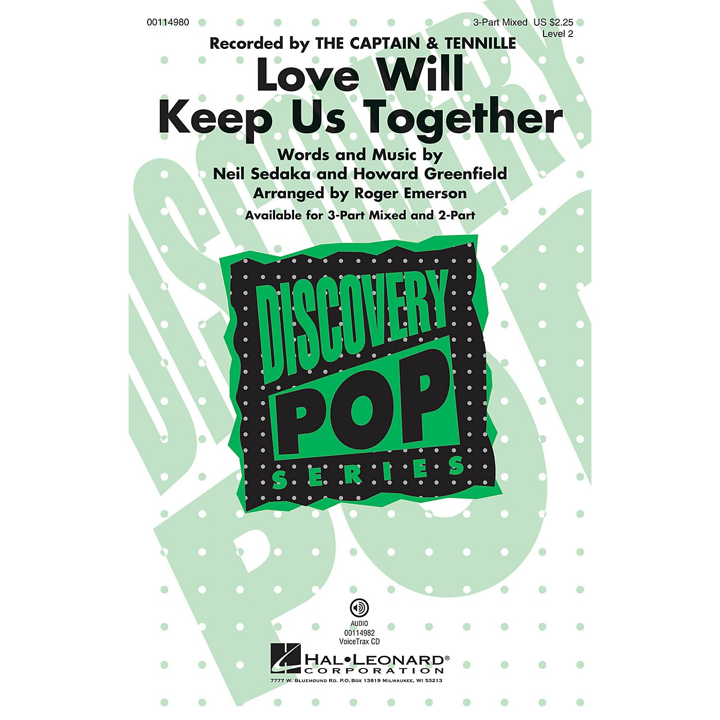 Hal Leonard Love Will Keep Us Together VoiceTrax CD by The Captain & Tennille Arranged by Roger Emerson thumbnail