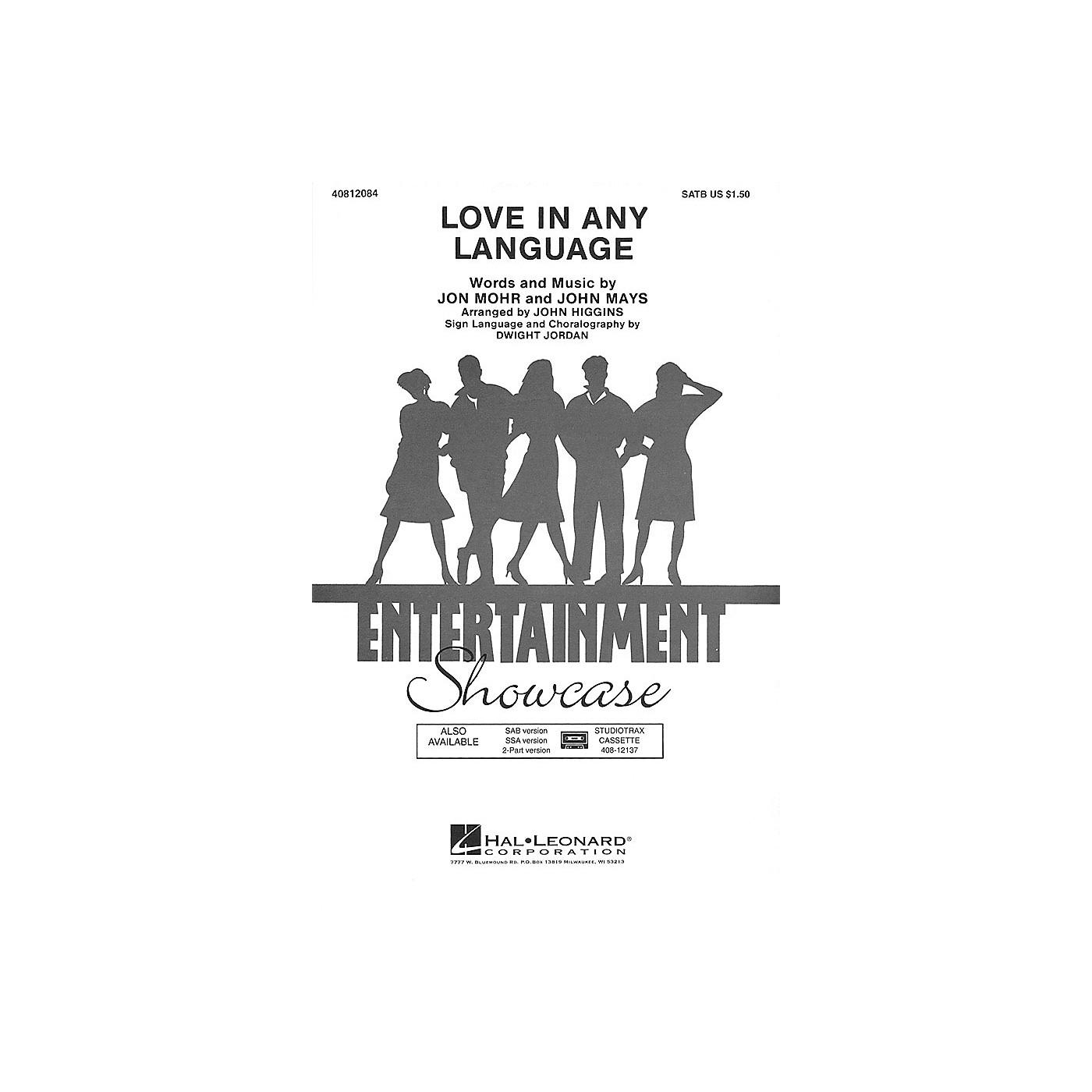Hal Leonard Love in Any Language SSA by Sandi Patti Arranged by John Higgins thumbnail
