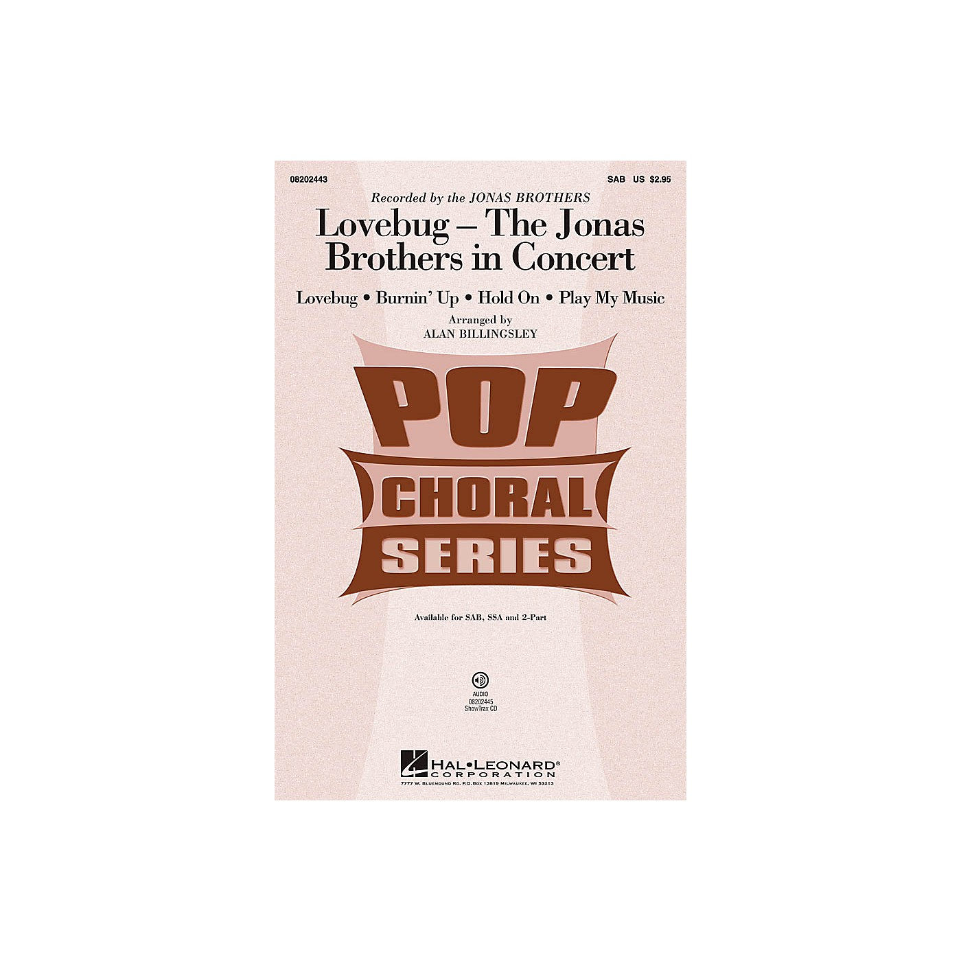 Hal Leonard Lovebug - The Jonas Brothers In Concert ShowTrax CD by Jonas Brothers Arranged by Alan Billingsley thumbnail