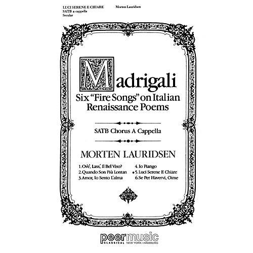 Peer Music Luci Serene e Chiare SATB a cappella Composed by Morten Lauridsen thumbnail