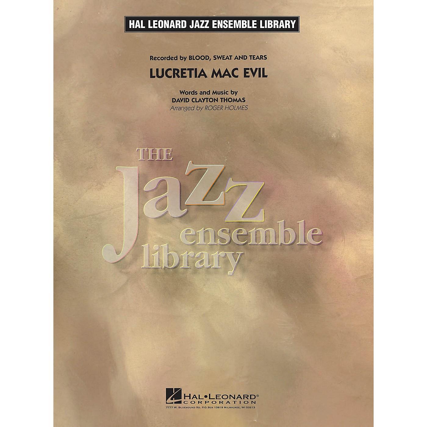 Hal Leonard Lucretia Mac Evil Jazz Band Level 4 by Blood, Sweat & Tears Arranged by Roger Holmes thumbnail