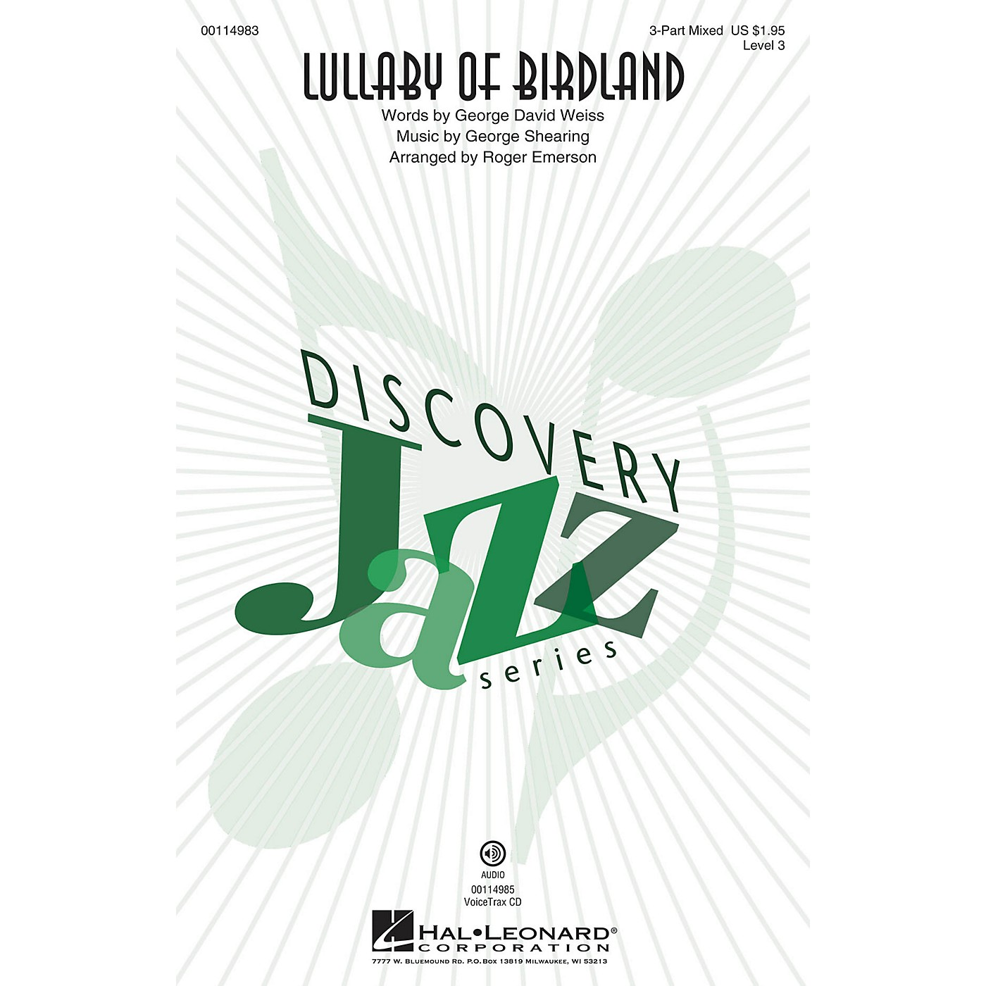 Hal Leonard Lullaby Of Birdland (Discovery Level 3 2-Part) 2-Part Arranged by Roger Emerson thumbnail