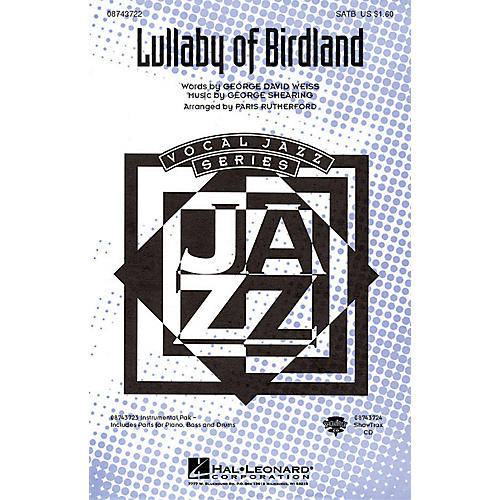 Hal Leonard Lullaby Of Birdland IPAKR Arranged by Paris Rutherford thumbnail