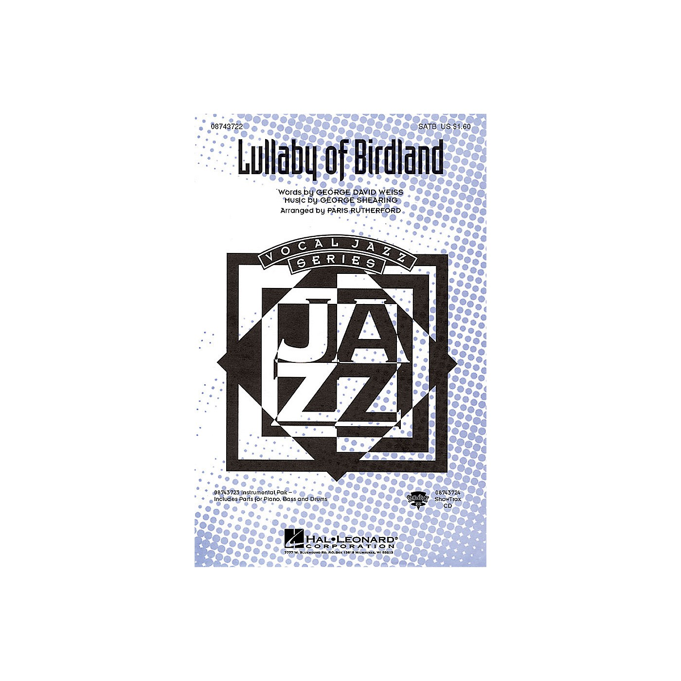 Hal Leonard Lullaby of Birdland SATB arranged by Paris Rutherford thumbnail