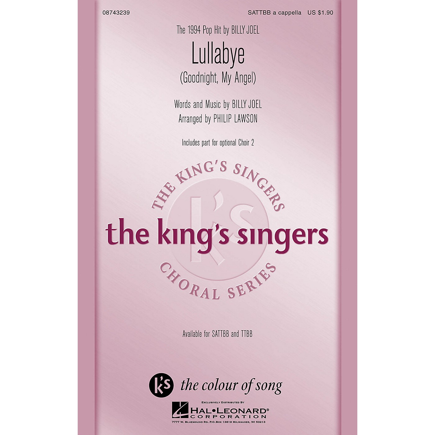 Hal Leonard Lullabye (Goodnight, My Angel) SATTBB A Cappella by The King's Singers arranged by Philip Lawson thumbnail