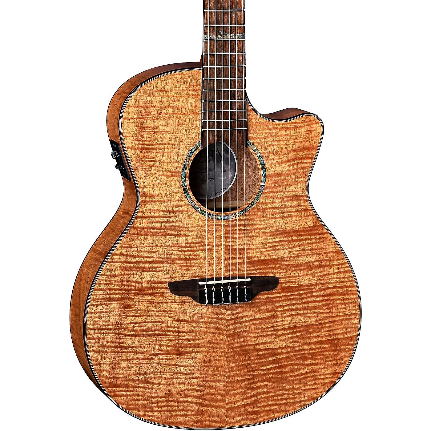 Luna Guitars Luna Guitars High Tide Exotic Mahogany Nylon String Acoustic/Electric Grand Concert Cutaway Guitar thumbnail