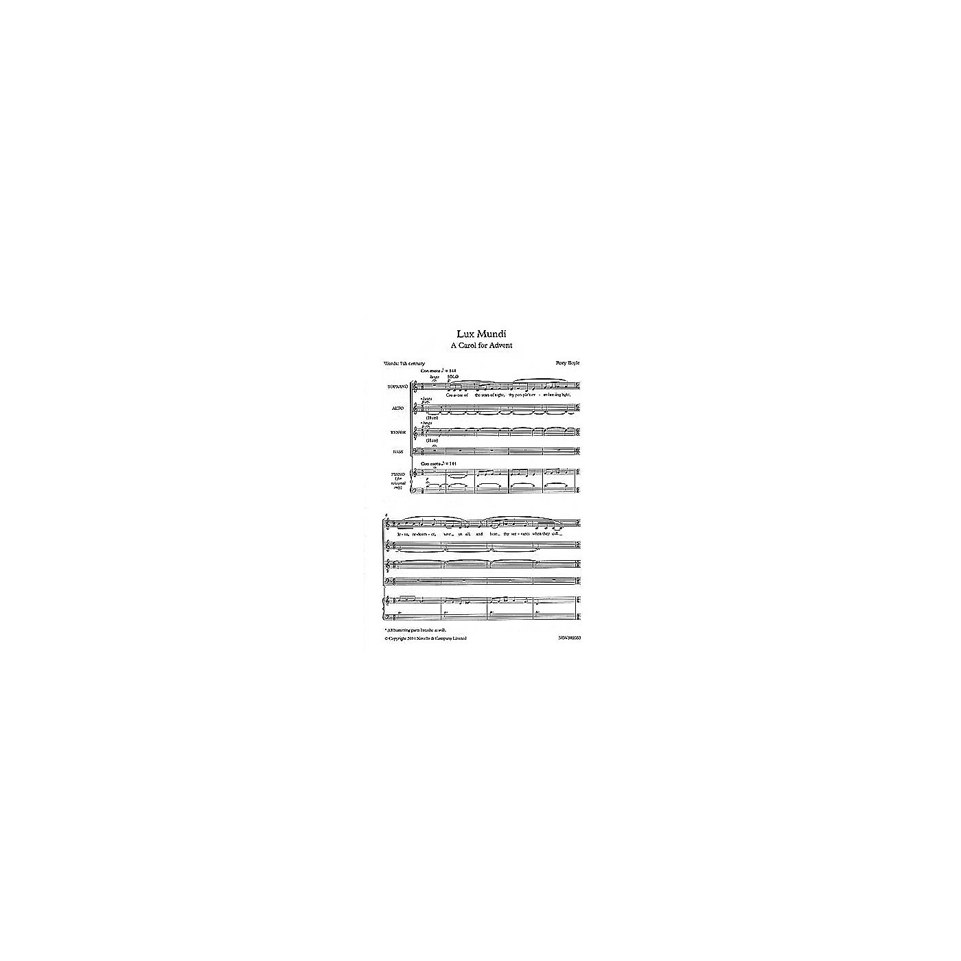 Novello Lux Mundi (A Carol for Advent) SATB Composed by Rory Boyle thumbnail