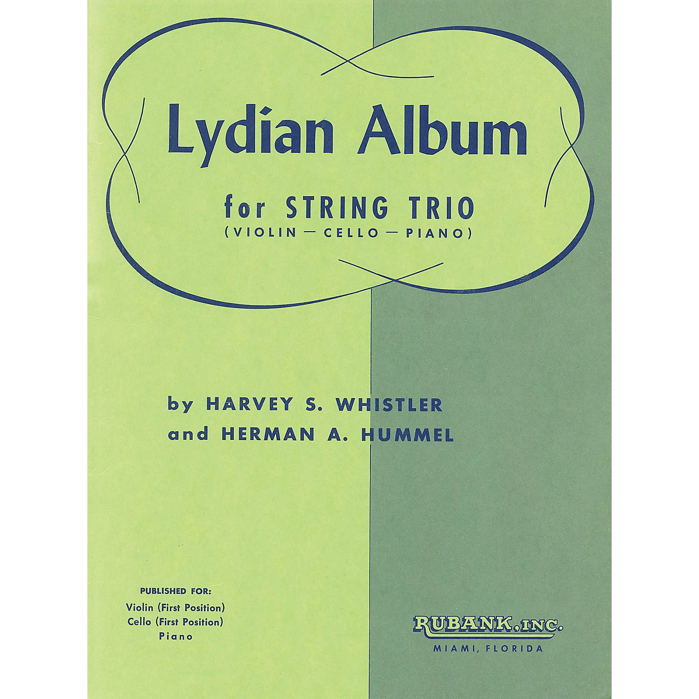 Rubank Publications Lydian Album (Violin, Cello and Piano) Ensemble Collection Series Arranged by Harvey S. Whistler thumbnail