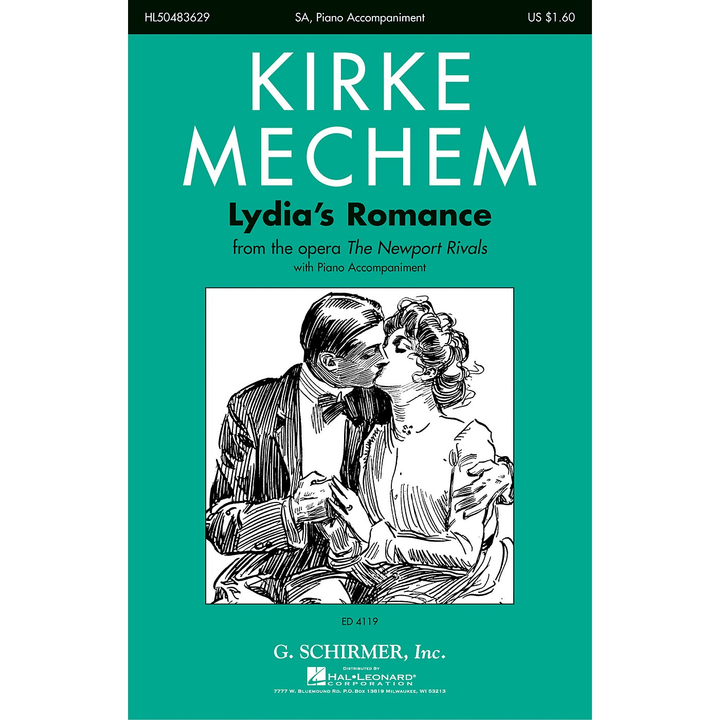 G. Schirmer Lydia's Romance (from the Opera The Newport Rivals) SA composed by Kirke Mechem thumbnail