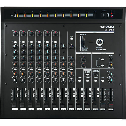 Tascam M-164FX 16-Input Mixer with Effects-thumbnail