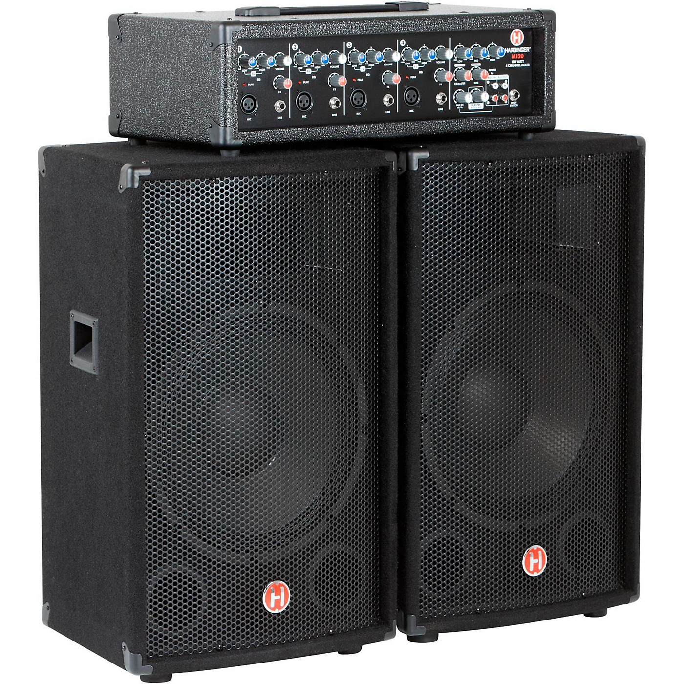 Harbinger M120 120W 4-Channel Compact Portable PA with 12