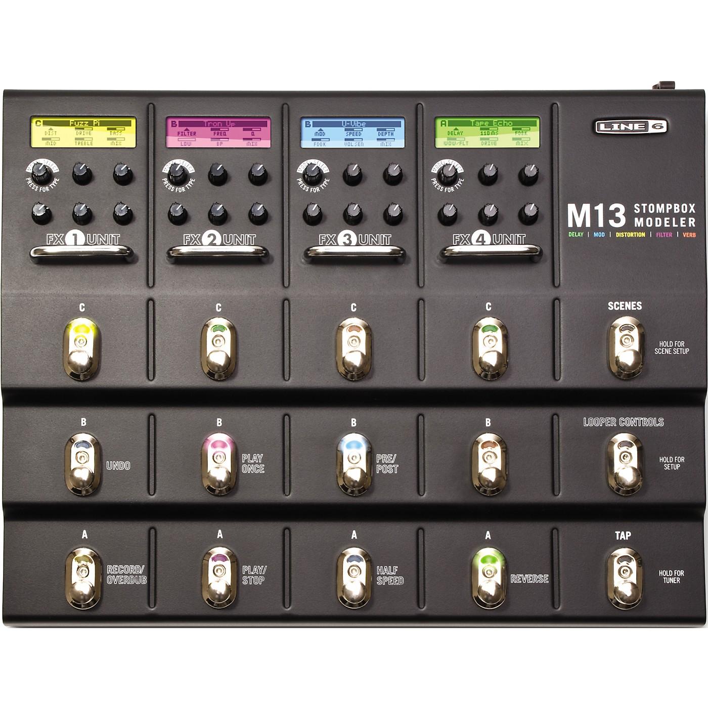 Line 6 M13 Stompbox Modeler Guitar Multi-Effects Pedal thumbnail