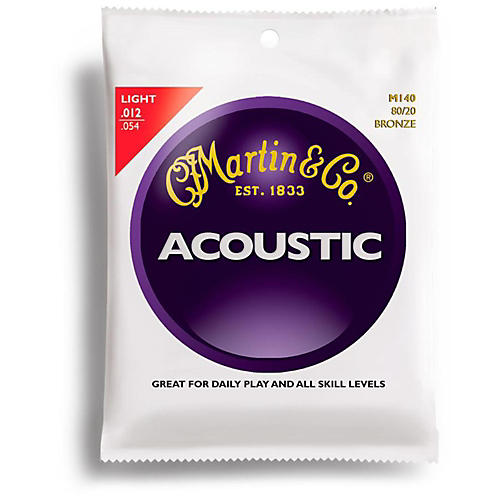 Martin M140 80/20 Bronze Light Acoustic Guitar Strings thumbnail