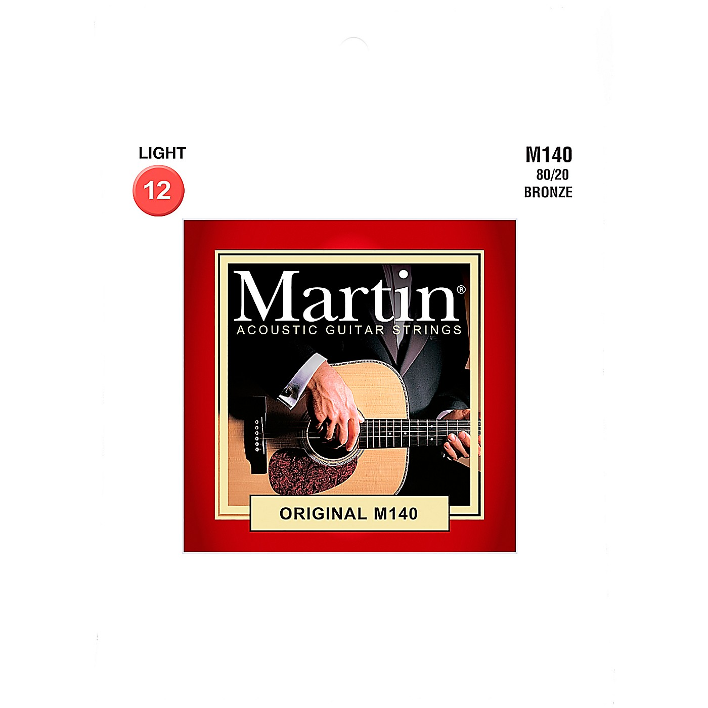 Martin M140 Martin Acoustic 80/20 Light Guitar String thumbnail