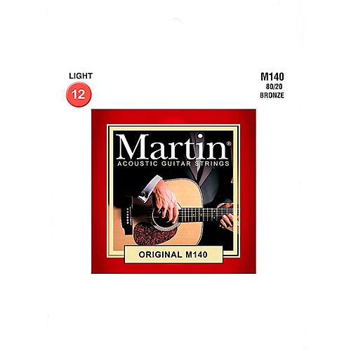 Martin M140 Martin Acoustic 80/20 Light Guitar String thumbnail
