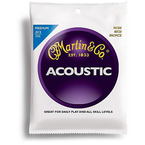 Martin M150 80/20 Bronze Medium Acoustic Guitar Strings-thumbnail