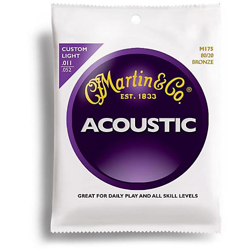 Martin M175 80/20 Bronze Custom Light Acoustic Guitar Strings thumbnail