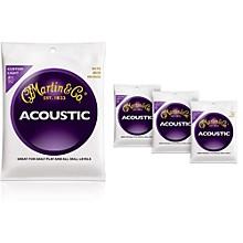 Martin M175 Traditional Bronze Custom Light Acoustic Guitar Strings - 4 Pack
