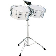 "LP M257 Matador Series 14"" and 15"" Steel Shell Timbales Set"