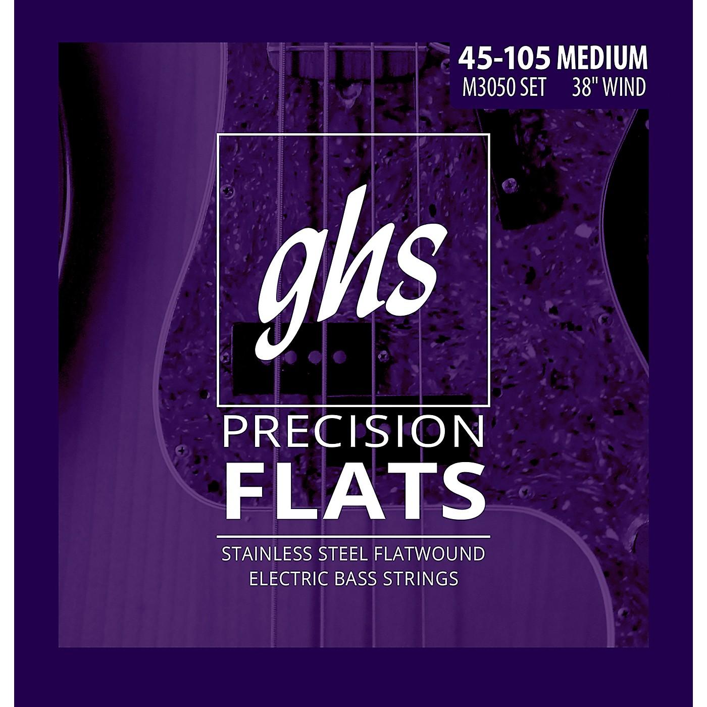 GHS M3050 Precision Flatwound Bass Strings Medium thumbnail