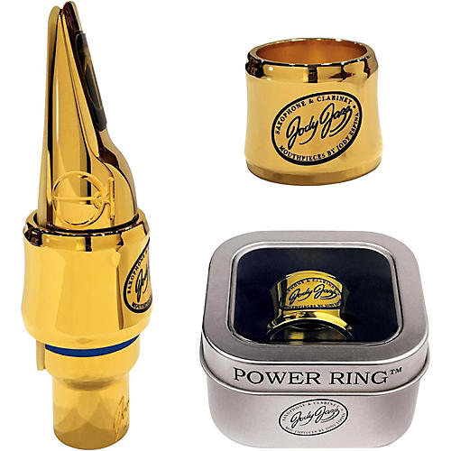 JodyJazz MA1 Gold Power Ring Ligature for Select Alto Mouthpieces thumbnail