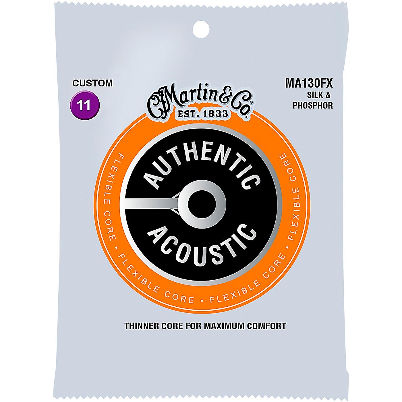 Martin MA130FX Authentic Acoustic - Flexible Core Silk and Phosphor Custom Guitar Strings thumbnail