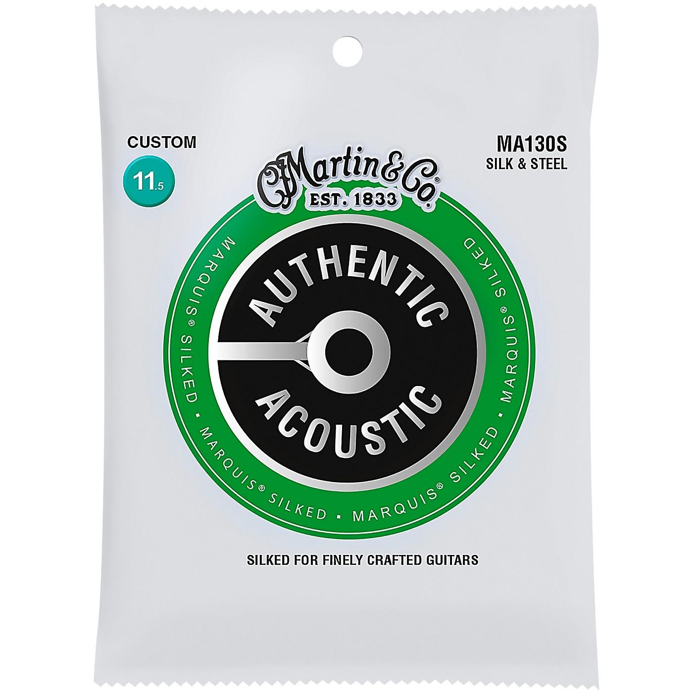 Martin MA130S Marquis Silk & Steel Custom Authentic Acoustic Guitar Strings thumbnail