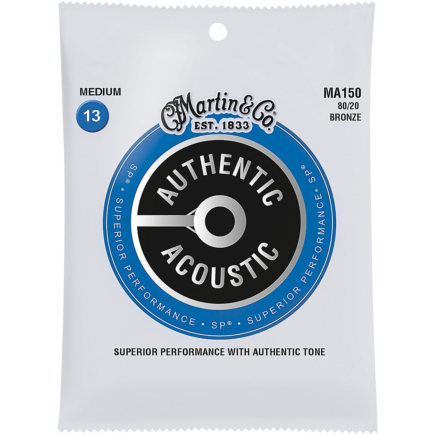 Martin MA150 SP 80/20 Bronze Medium Authentic Acoustic Guitar Strings thumbnail