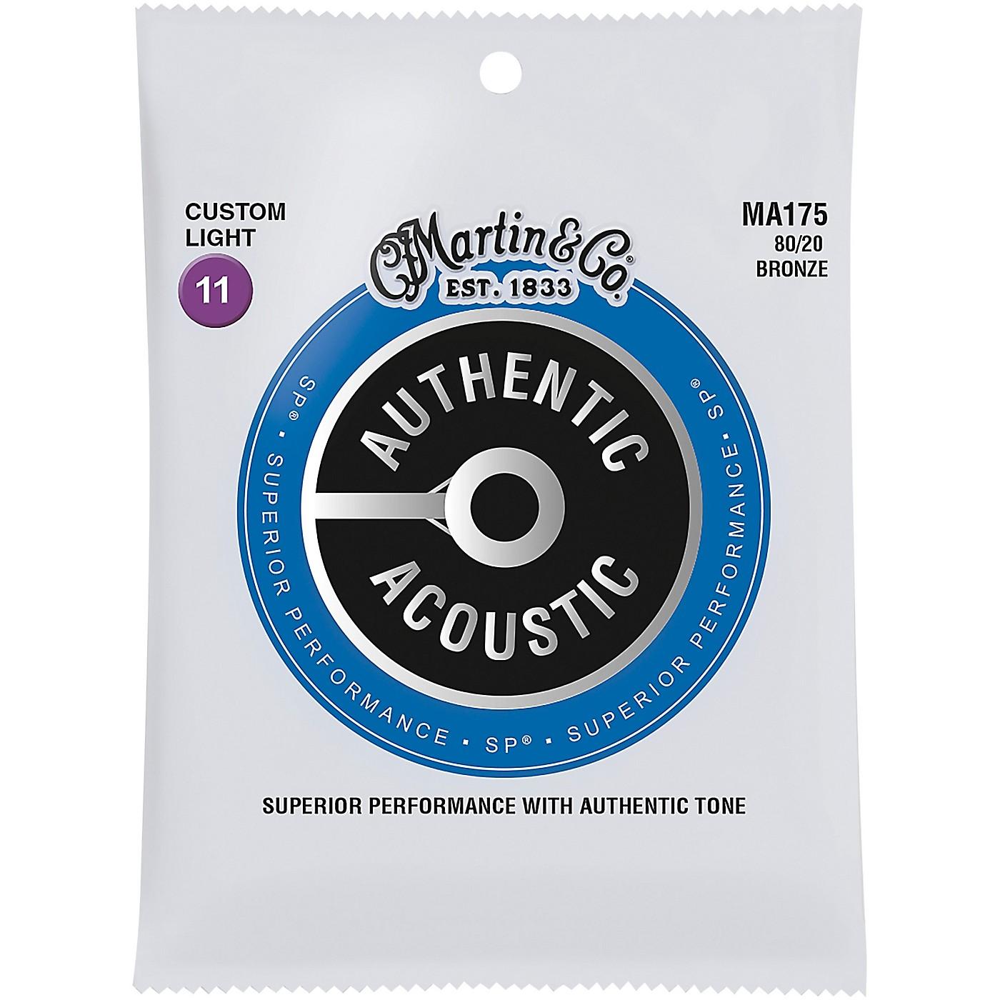 Martin MA175 SP 80/20 Bronze Custom-Light Authentic Acoustic Guitar Strings thumbnail
