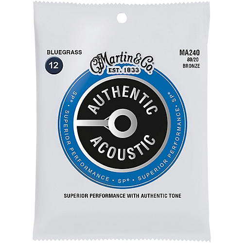 Martin MA240 SP 80/20 Bronze Bluegrass Authentic Acoustic Guitar Strings thumbnail