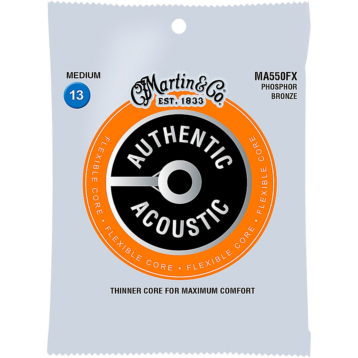 Martin MA500FX Authentic Acoustic Flexible Core Phosphor Bronze Medium Guitar Strings thumbnail