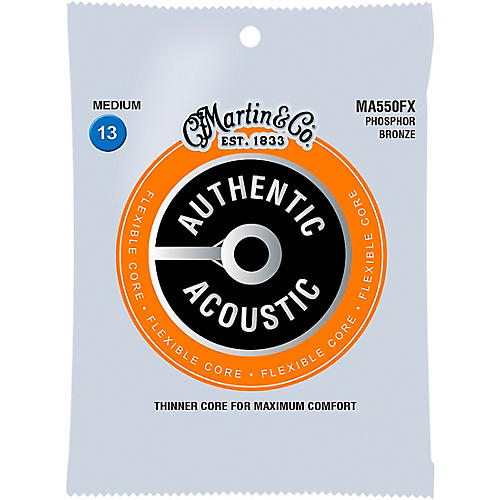 Martin MA500FX Authentic Acoustic Flexible Core Phosphor Bronze Medium Guitar Strings thumbnail