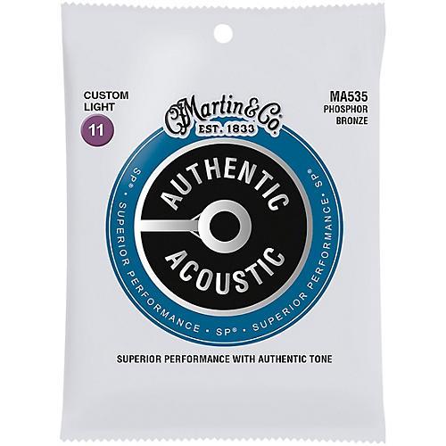 Martin MA535S Authentic Acoustic Phosphor Bronze Custom-Light Guitar Strings thumbnail