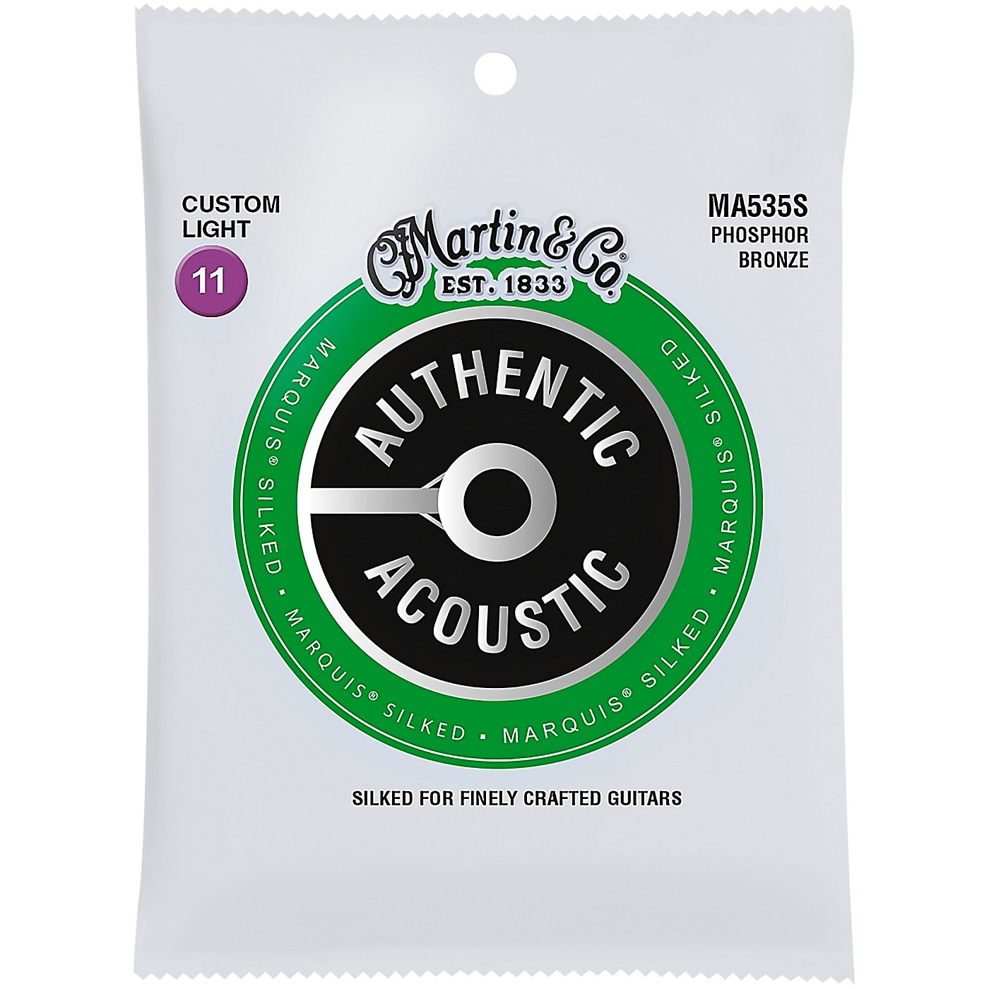 Martin MA535S Marquis Phosphor Bronze Custom-Light Authentic Silked Acoustic Guitar Strings thumbnail