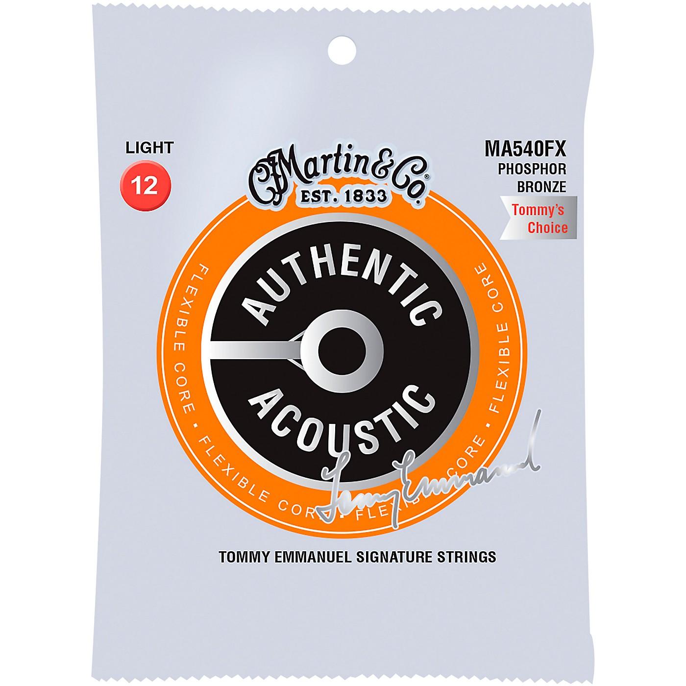Martin MA540FX Flexible Core Phosphor Bronze Light Acoustic Guitar Strings thumbnail