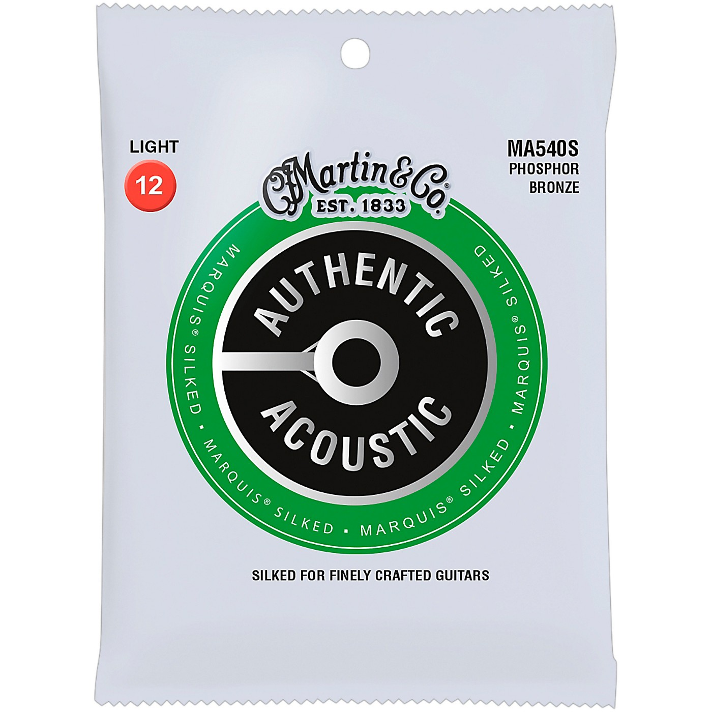 Martin MA540S Marquis Phosphor Bronze Light Authentic Silked Acoustic Guitar Strings thumbnail