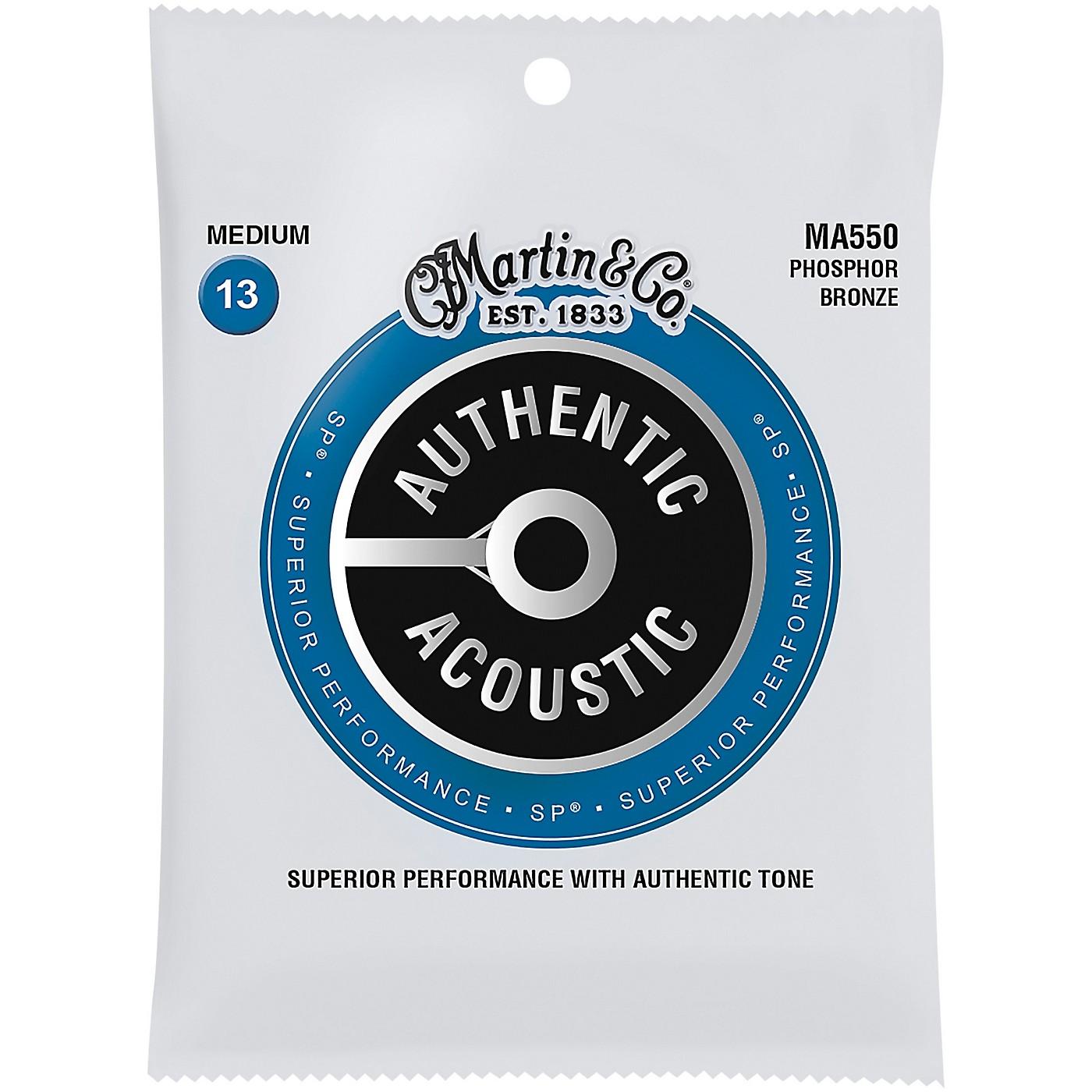Martin MA550 SP Phosphor Bronze Medium Authentic Acoustic Guitar Strings thumbnail