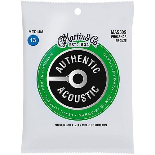 Martin MA550S Marquis Phosphor Bronze Medium Authentic Silked Acoustic Guitar Strings thumbnail