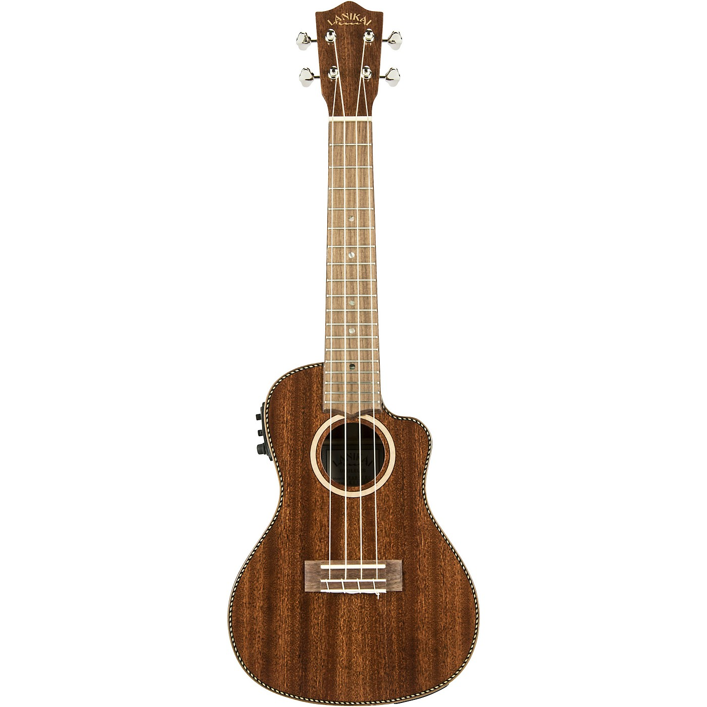 Lanikai MAS-CEC All Solid Mahogany Concert with Kula Preamp Acoustic-Electric Ukulele thumbnail