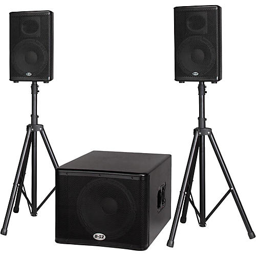 B-52 MATRIX-1500 1200-Watt 15 Sub & Two 10 2-Way Three Piece Active Speaker System-thumbnail