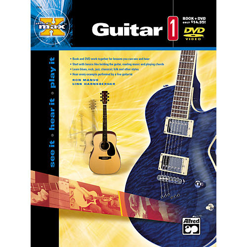 Alfred MAX Series Guitar Instruction 1 (Book/DVD) thumbnail