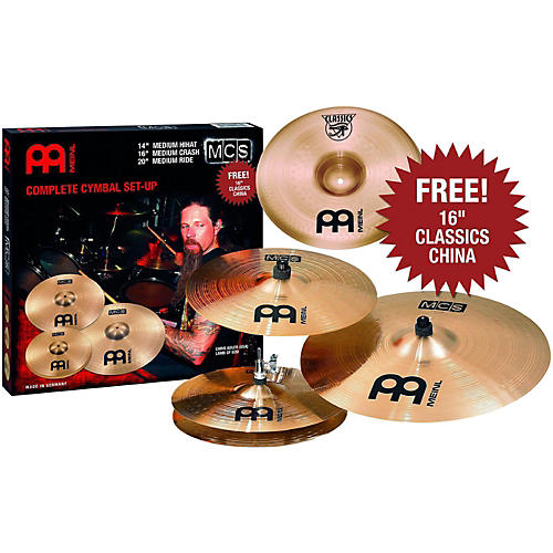 Meinl MCS 3-Cymbal Set + Free 16 Inch China thumbnail