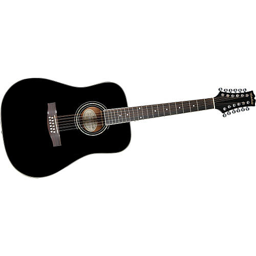 Mitchell MD100S12EBK 12-String Dreadnought Acoustic-Electric Guitar thumbnail