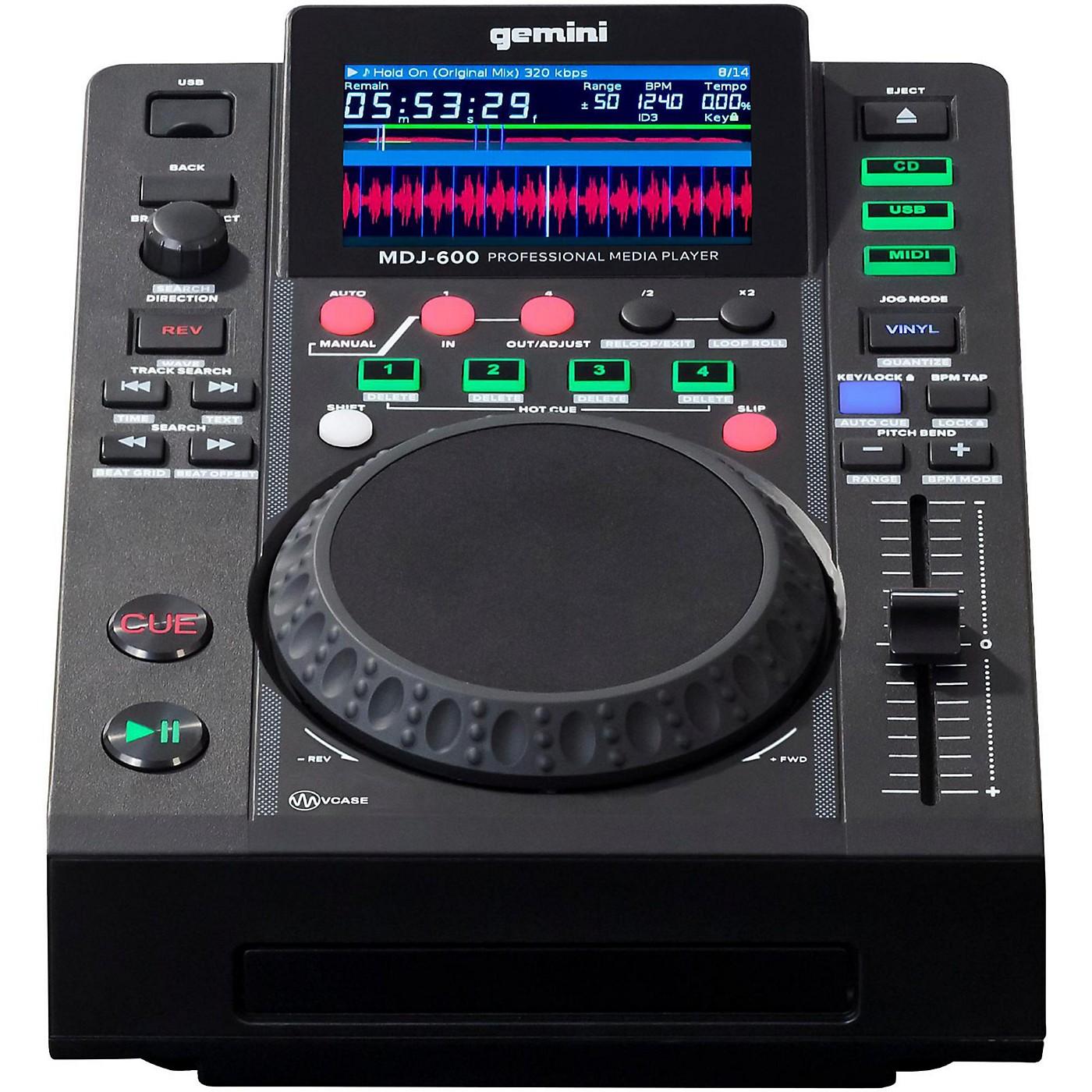 Gemini MDJ-600 Professional DJ USB CD CDJ Media Player thumbnail