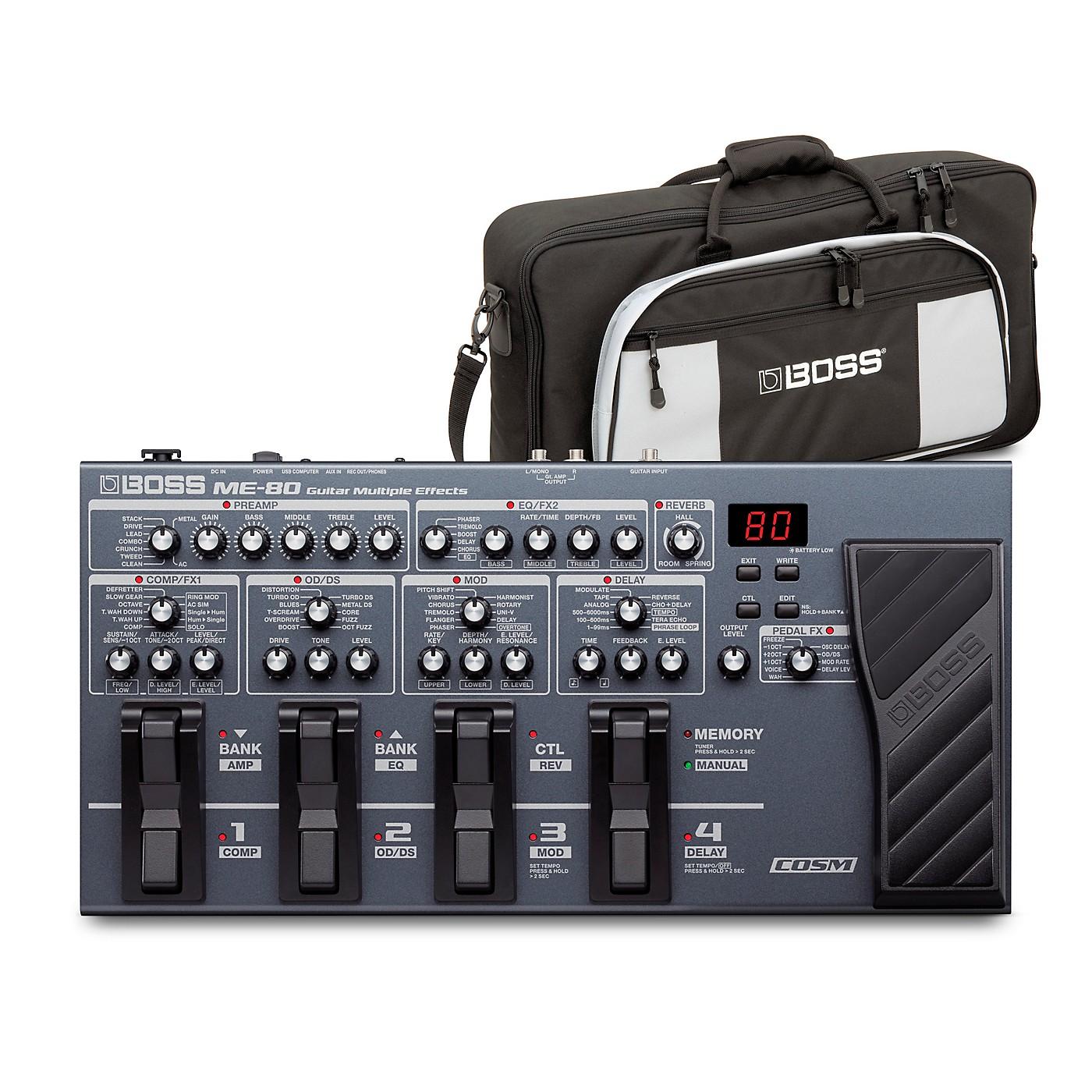Boss ME-80 Guitar Multi-Effects Pedal and L2 Bag Bundle thumbnail