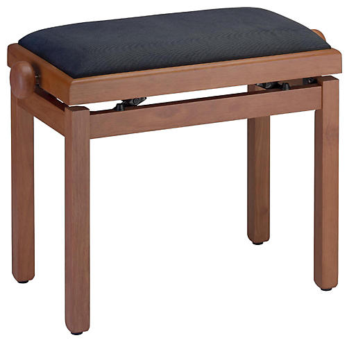 Stagg MEDIUM WILD CHERY PIANO BENCH MATT+BLACK VELVET TOP thumbnail